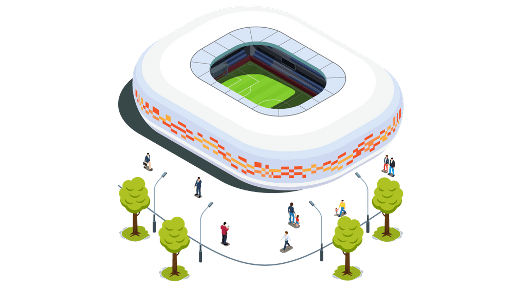 Stadium with event