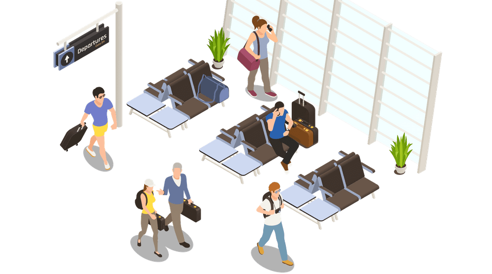 Airport Departure People